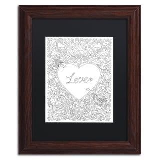 Hello Angel 'Arrow to my Heart' Matted Framed Art