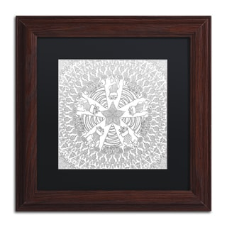 Hello Angel 'Christmas Tree Mandala' Matted Framed Art