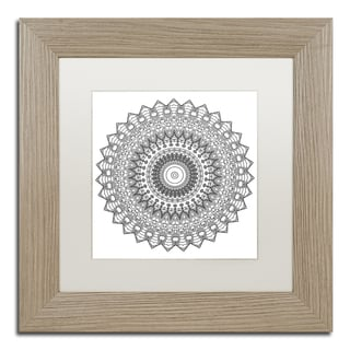 Kathy G. Ahrens 'Nights Mandala' Matted Framed Art