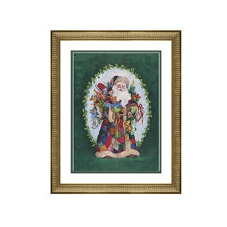 Barbara Mock - Jolly St. Nick - Framed Matted Christmas Art
