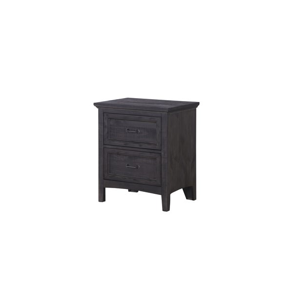 Magnussen Home Furnishings B3803 Mill River Grey Wood 2-drawer Nightstand