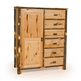 Rustic Amish Made HIckory Wardrobe