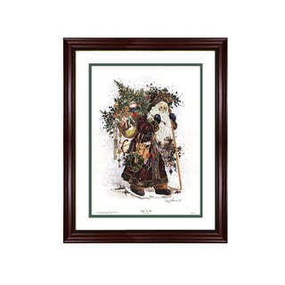 Peggy Abrams - Toys In Town - Framed Matted Christmas Art