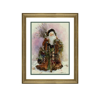 Peggy Abrams - Santa's Bounty - Framed Matted Christmas Art