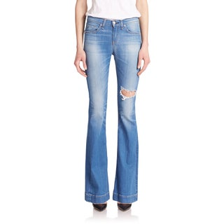 Rag & Bone Kilbowie Cotton High-rise Bell Jeans
