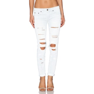 Rag & Bone Dre Women's White Distressed Jeans