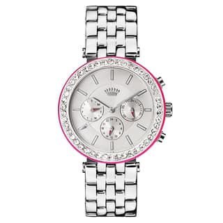 Juicy Couture Women's Stainless Steel Silver-tone with Pink Accent Watch|https://ak1.ostkcdn.com/images/products/13341766/P20044461.jpg?impolicy=medium