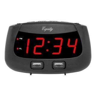 Equity by La Crosse 30416 0.9-inch LED Dual-USB Alarm Clock