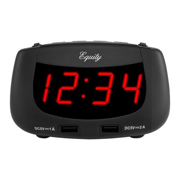 Equity by La Crosse 30451 0.9-inch LED Dual-USB Alarm Clock