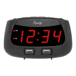 Equity by La Crosse 30451 0.9-inch LED Dual-USB Alarm Clock
