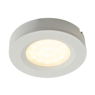 Dals White Aluminum LED 2 in 1 Puck Light Fixture