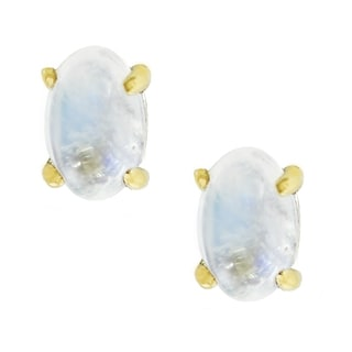 One-of-a-kind Michael Valitutti Sterling Silver White Opal Stud Earrings
