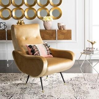 Safavieh Mid-Century Modern Elicia Velvet Camel Accent Chair