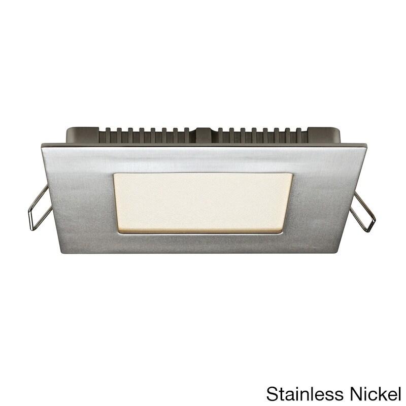 USA Satin Nickel Aluminum 4-inch 8W LED Square Panel Ceil...