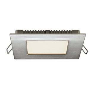 Satin Nickel Aluminum 4-inch 8W LED Square Panel Ceiling Light