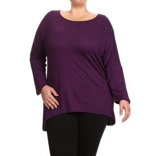 MOA Collection Women's Plus Size Solid Shirt