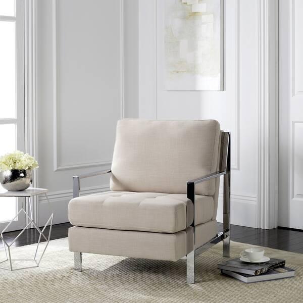 Astonishing Shop Safavieh Mid Century Modern Glam Walden Linen Beige Gamerscity Chair Design For Home Gamerscityorg