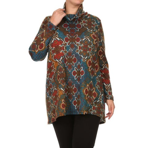 MOA Collection Women's Plus-size Geometric Top