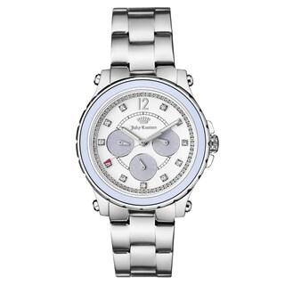 Juicy Couture Women's Silvertone Stainless Steel Bracelet Japanese Quartz Watch