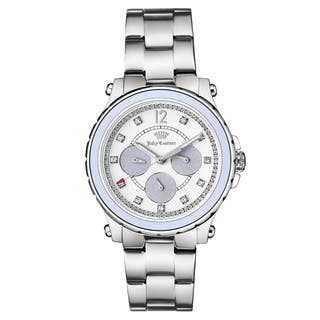 Juicy Couture Women's Silvertone Stainless Steel Bracelet Japanese Quartz Watch|https://ak1.ostkcdn.com/images/products/13341912/P20044586.jpg?impolicy=medium