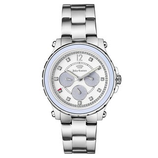 Juicy Couture Women's Silvertone Stainless Steel Bracelet Japanese Quartz Watch