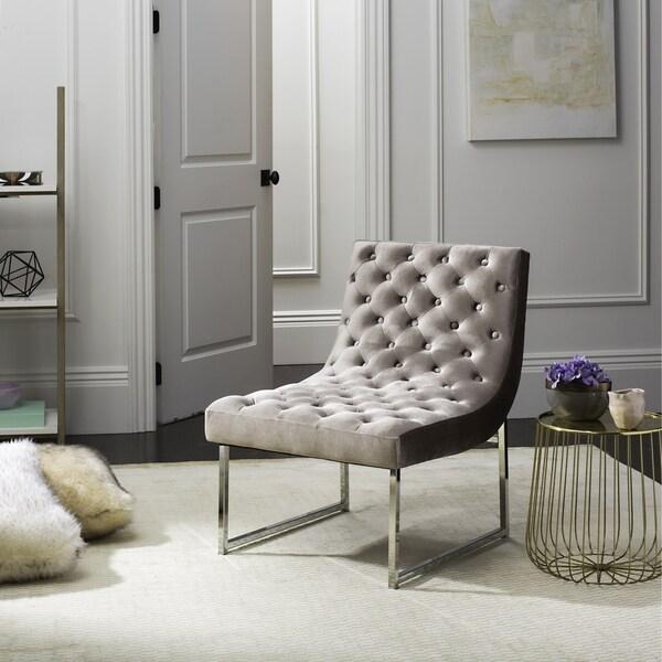 Shop Safavieh Mid Century Modern Glam Hadley Tufted Velvet