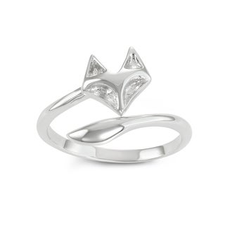 Journee Collection Sterling Silver Fox Tail Open Ring