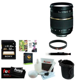 Tamron AF 28-75mm f/2.8 SP XR Di LD Aspherical (IF) Zoom Lens for Canon DSLR with Sony 32GB SDHC C10 Bundle