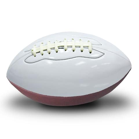 Premium White Synthetic Fiber Regulation Inflated Autograph Football