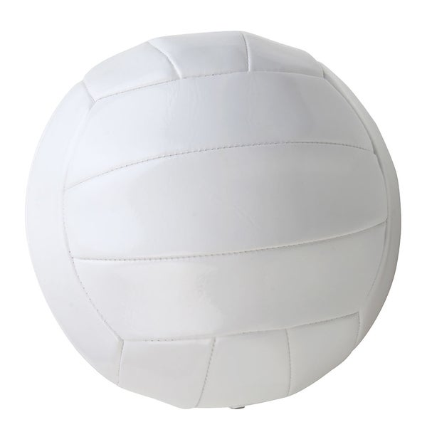 Premium White Synthetic Leather Regulation-size Inflated Volleyball