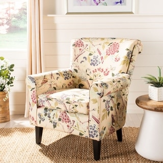 Safavieh Hazina Multicolored Floral Print Rolled Back Club Chair