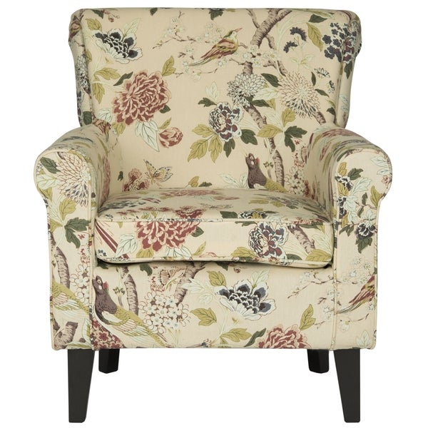 Incroyable Safavieh Hazina Multicolored Floral Print Rolled Back Club Chair