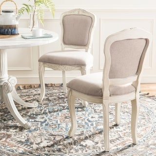 Safavieh Burgess French Brasserie Upholstered Taupe Side Chair