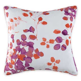 Christian Siriano Pink Microplush Watercolor Bloom Decorative Throw Pillow