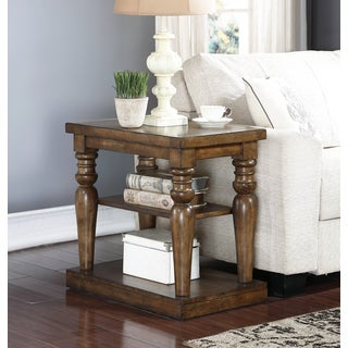 Abbyson Brown Cypress Wood End Table