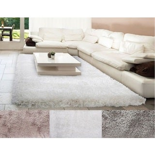 Home Dynamix Montage Collection Solid Shag Beige, Grey, White Area Rug (7'10 x 10'2)