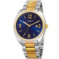 Akribos XXIV Men's Quartz Date Stainless Steel Two-Tone Bracelet Watch