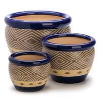 Columbine Ceramic Plant Holders - Set of 3