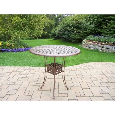 Merit Antique Bronze Cast Aluminum Round 42-inch Bar Table