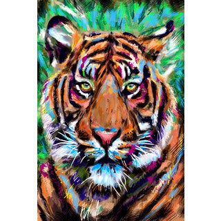 Marmont Hill Pat Spark 'Tiger 5' Painting Print on Wrapped Canvas