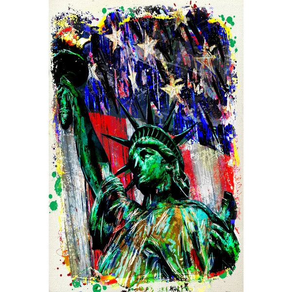 Marmont Hill Pat Spark 'Statue of Liberty 2' Painting Print on Wrapped Canvas