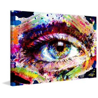 Marmont Hill Pat Spark 'Eye 1' Painting Print on Wrapped Canvas