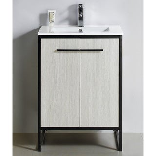 "Vdara 24"" Silver Gray Bathroom Vanity Cabinet Set"