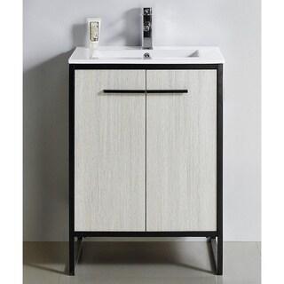 """Vdara 24"""" Silver Gray Bathroom Vanity Cabinet Set"""