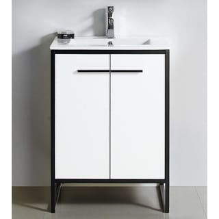 "Vdara 24"" White Bathroom Vanity Cabinet Set"