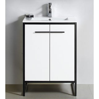 "Vdara 24"" White Bathroom Vanity Cabinet Set"