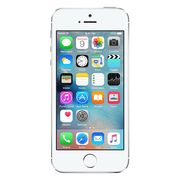 apple iphone 5s 16gb unlocked gsm 4g lte dual core phone w 8mp camera silver refurbished. Black Bedroom Furniture Sets. Home Design Ideas