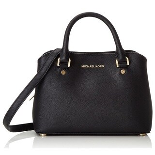 Michael Kors Small Savannah Black Satchel Handbag
