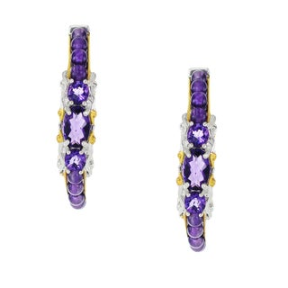 One-of-a-kind Michael Valitutti Palladium Silver African Amethyst Earrings