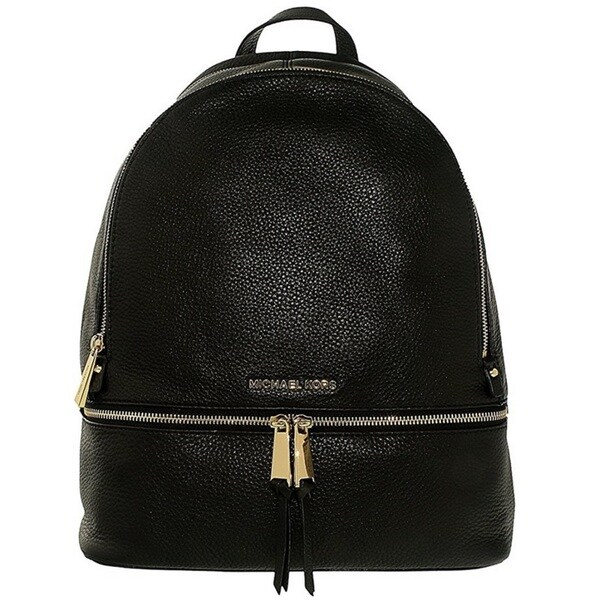 65a12a6b6c81 Shop Michael Kors Rhea Zip Black Large Leather Backpack - Free ...
